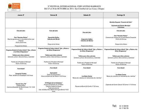 Programa IX FESTIVAL CERVANTINO