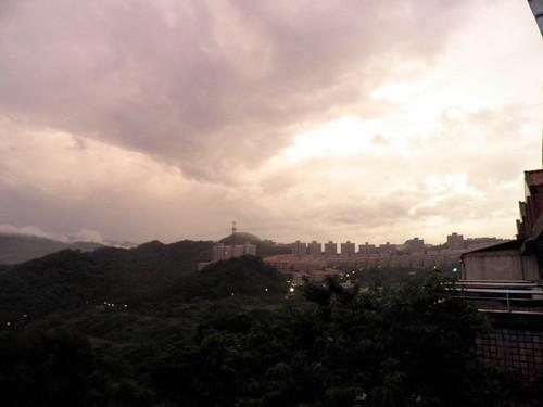山邊夕陽2