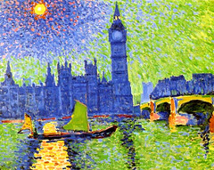 Derain, Andre  (French, 1880-1954)  - The 'Big Ben' in London  -1906