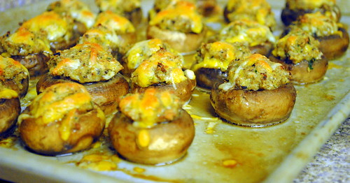 Savory Crab Stuffed Mushrooms – Crazy Jamie