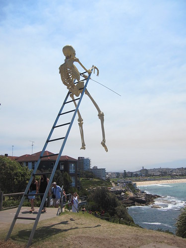 Skeleton over looking Bondi!