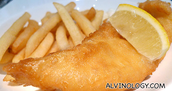 Signature Fish & Chip (this is just half a portion)