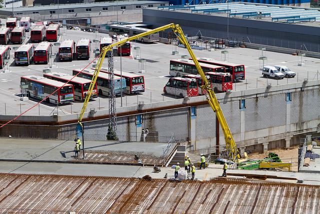 Hormigonando losa en Triangle Ferroviari - 25-07-11