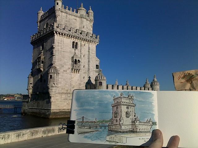 torre belem sketch