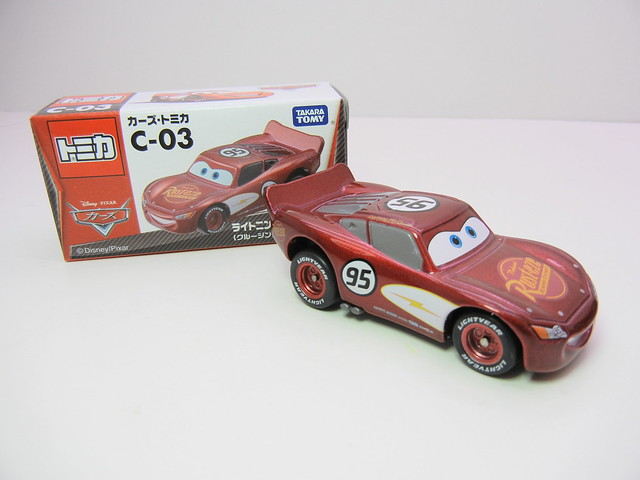 disney cars tomica c-03 cruisin lightning mcqueen (2)