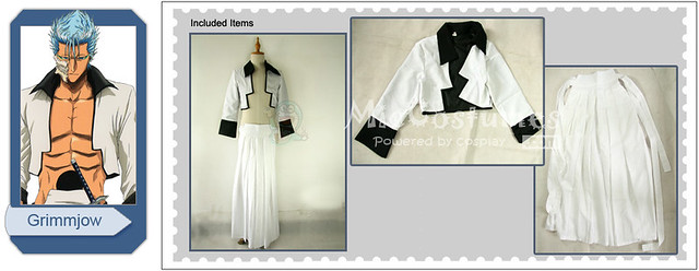 Bleach Grimmjow Jeagerjaques Pantera Form Cosplay Costume