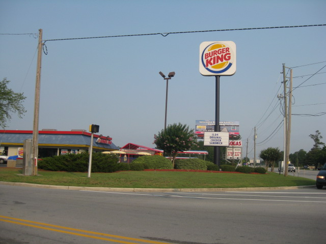 Swansboro Burger King at the corner of Hwy. 24 and Queens Creek Road