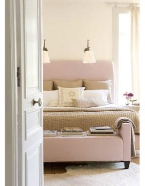 Smith Hanes pink beige bedroom