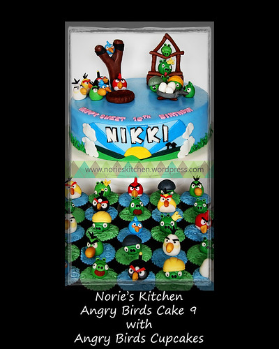 Norie's Kitchen - Angry Birds Cake 9 with cupcakes by Norie's Kitchen
