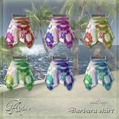 Aylas @ The Deck - Barbara skirt colours vendor copy