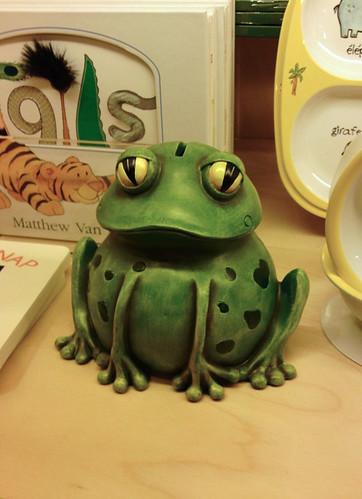 frog coin bank