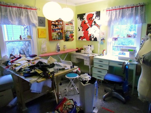 sewing room - before