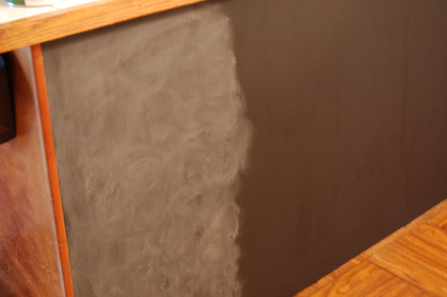 Chalkboard Paint on Kitchen Island