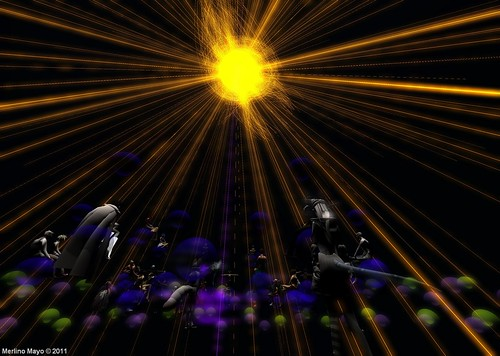 Concert Hall of Fire in NATURAE at MiC while music performance of Ultraviolet Alter