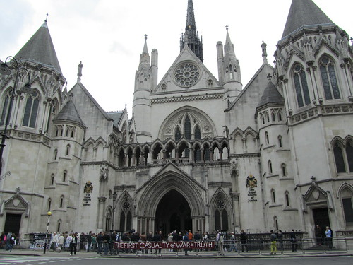 Outside The Royal Courts of Justice