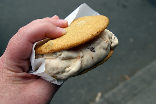 Ruby Jewel ice cream sandwich
