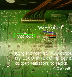 about doing this can you confirm where the vco wave selector points are i borrowed a picture from an earlier post uploaded by low gain which should  [ 1024 x 768 Pixel ]
