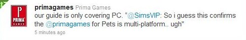 Prima Confirms PC Only Pets Guide!