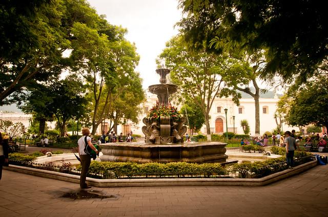 Main plaza in Antigua Guatemala