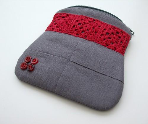 Crochet combo coin purse