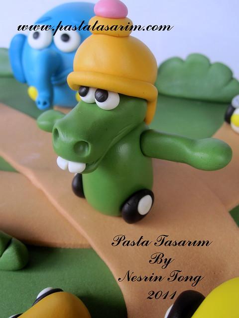 jungle junction cake - doruk 2nd birthday
