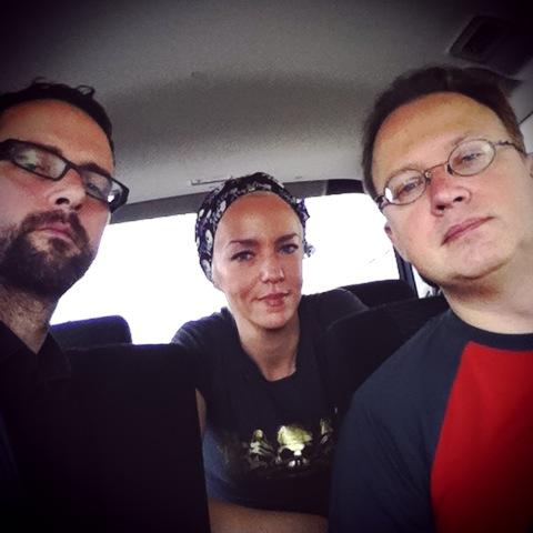 Me, @xenijardin & @noktonlux heading to Fukushima. #safecast