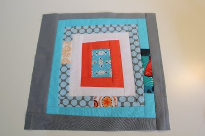 August block for Sew & Bee-Happy