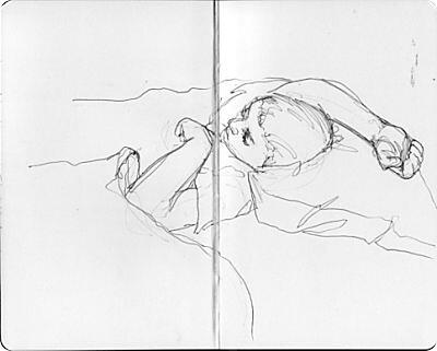 Travel Sketches - Sleeping