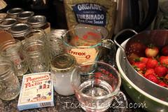 Strawberry Freezer Jam Ingredients