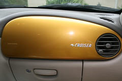 Gold dash with iridescent lettering
