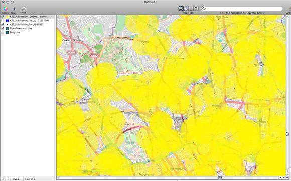 Cartographica OSM Buffer
