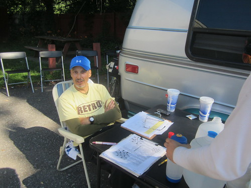 Joe K. checking us in at Controle #9, Cuddebackville, NY