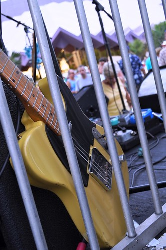 Guitar Takes a Break During Yesterdayze's July 15 Performance at the Van Wezel Performance Arts Hall Friday Fest Event, Sarasota, Fla.
