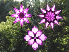 Trio of Purple Window Stars