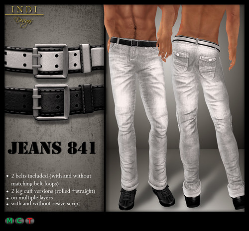 Jeans 841 white (TOSL)