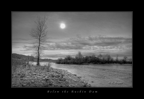 Below the Ruskin Dam