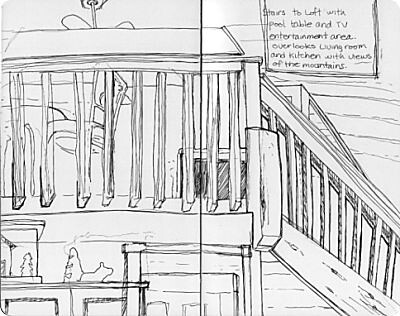 Gatlinburg Travel Sketches - Cabin