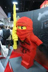 Ninjago Statue at the LEGO booth - San Diego Comic Con - 1