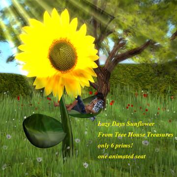 Lazy Days Sunflower, Tree House Treasures, 50L$