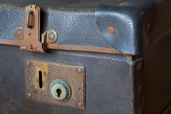 Old suitcase lock