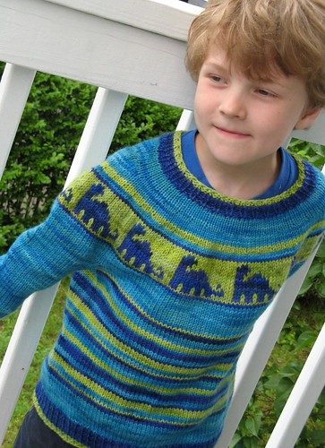 2448 J's dino sweater