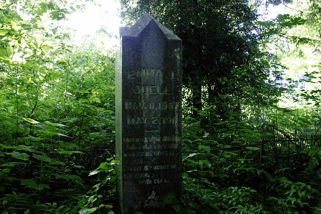 Another shot of an old gravestone