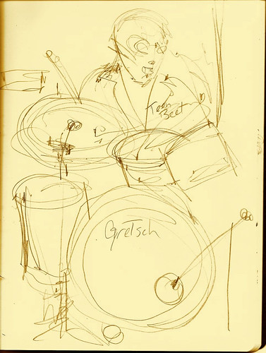 Quick sketch at Los Straitjackets show