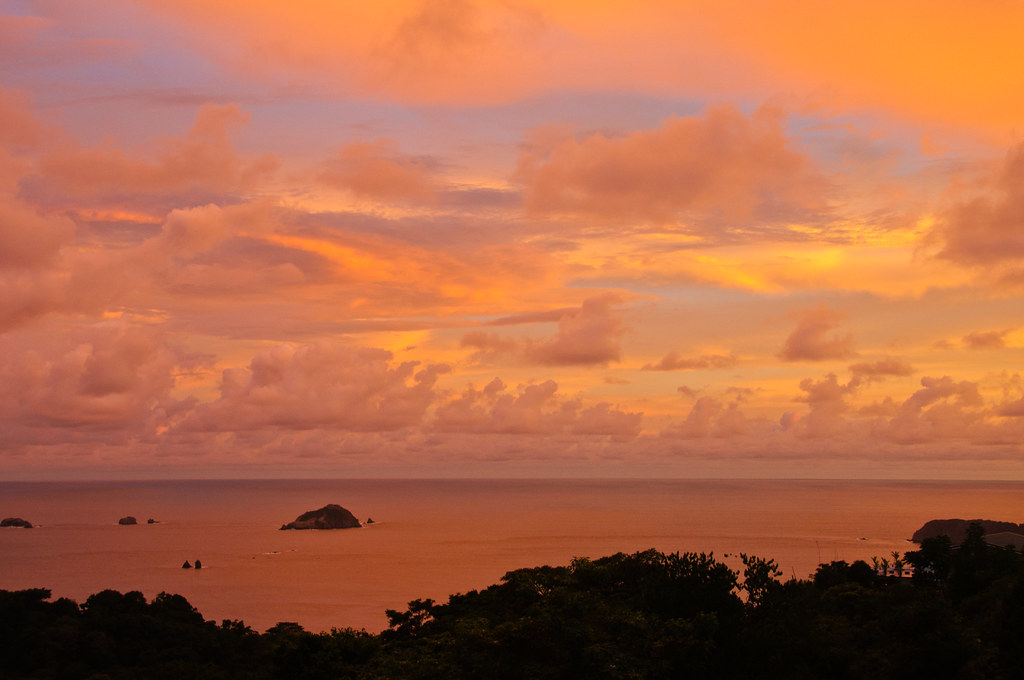 Sunset over Manuel Antonio