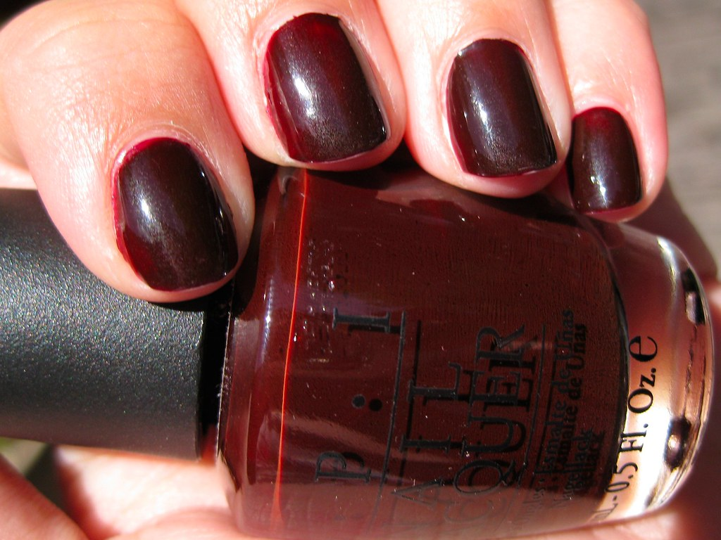 OPI All A-Bordeaux The Sled!