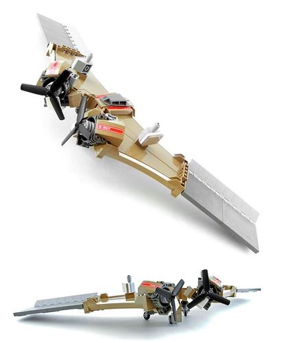 LEGO Chrispocket Sand Baron flying wing