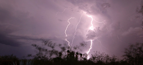 Tucson monsoon lightning by SearchNetMedia