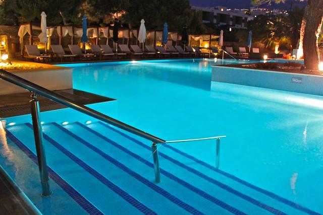 Piscine de l'hôtel Theoxenia, Mykonos, Grèce