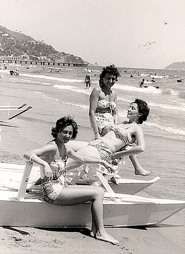 1960s Women on Beach