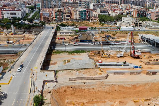Zona de la futura estación de La Sagrera - 27-07-11